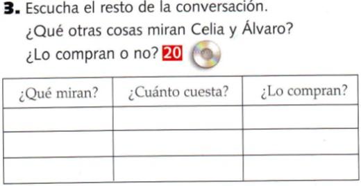 Audio A1. Celia y Álvaro compran ropa
