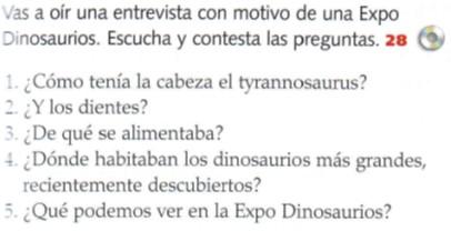 AUDIO B2 EXPOSICIÓN DE DINOSAURIOS