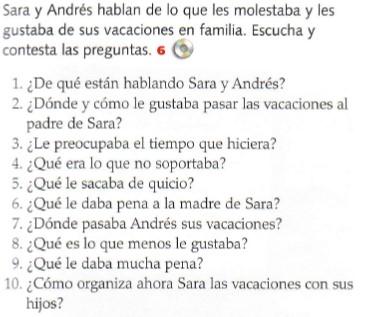 Vacaciones de Andrés y Sara