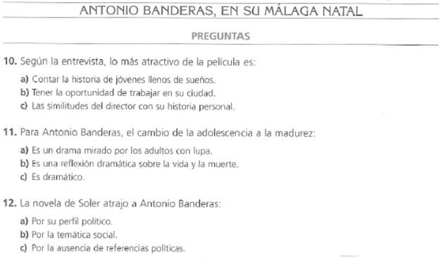 Audio B2. Entrevista a Antonio Banderas
