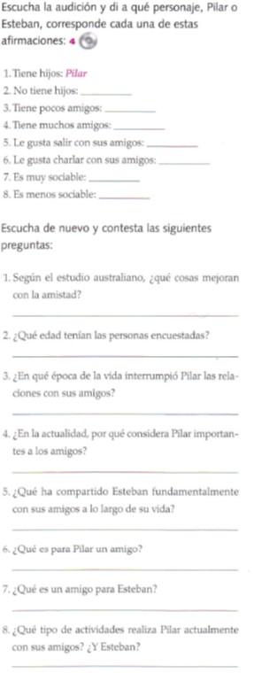 Audio B2. Pilar y Esteban