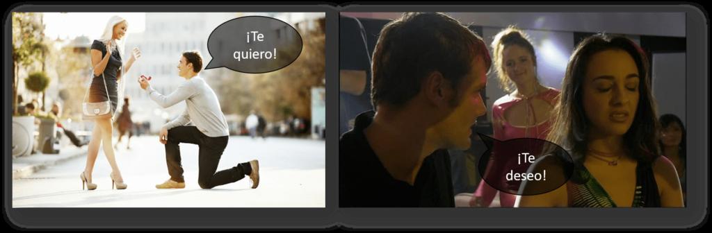 Я люблю тебя на испанском языке для выражения сиюминутного чувства