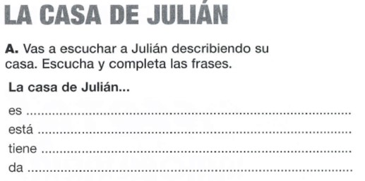 Texto audio A2. La casa de Julián