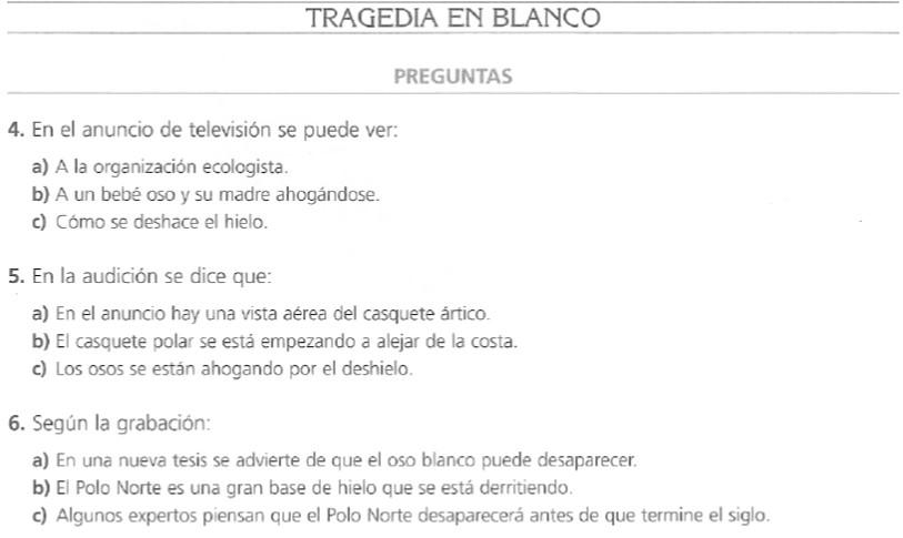 tragedia en blanco audio b2 espanol